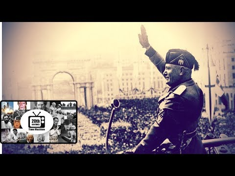 Benito Mussolini Addressing a Huge Crowd In Rome (1935 - silent footage)