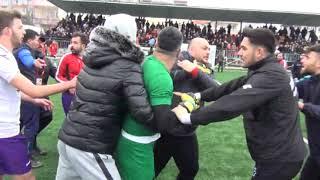 gerze belediyespor sinop futbol karsılasması sonrası yaşanan kavga kameralara yansıdı