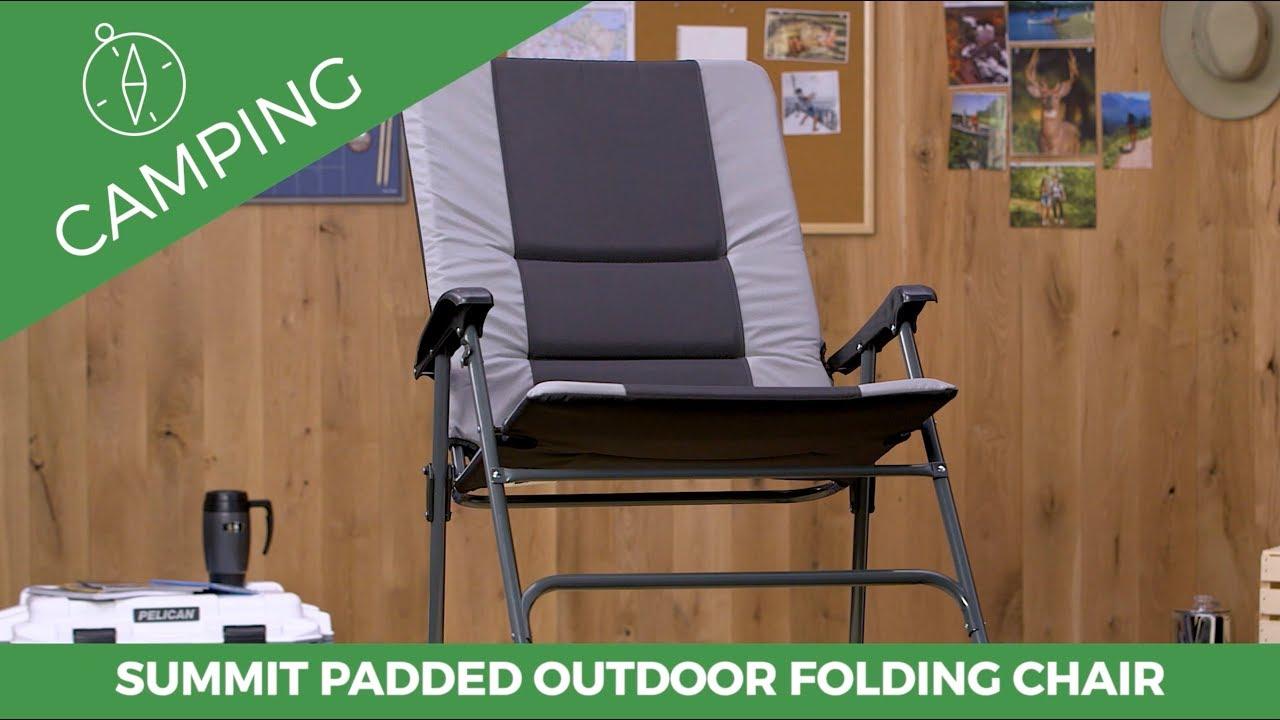 Summit Padded Folding Outdoor Rocker Chair