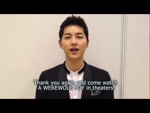 A Werewolf Boy 늑대소년  Cast Shout Out: Song Joongki