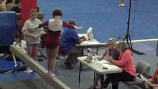 Nora Gift Special Olympics Gymnastics Balance Beam May 16, 2010