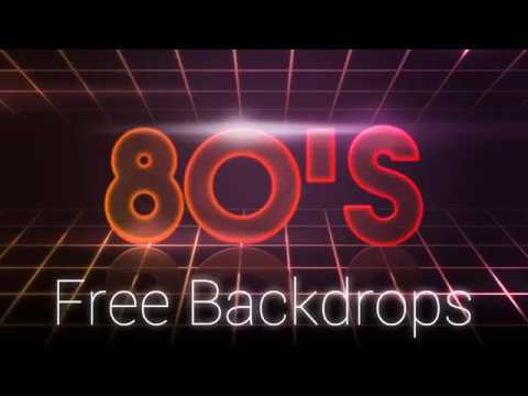 80's Style Backdrops PSD Free Download