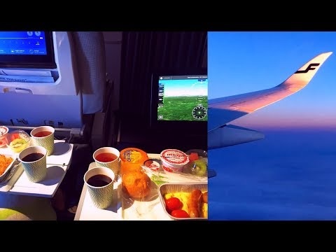 Finnair Airbus A350-900 Economy Comfort AY 70 Hong Kong - Helsinki