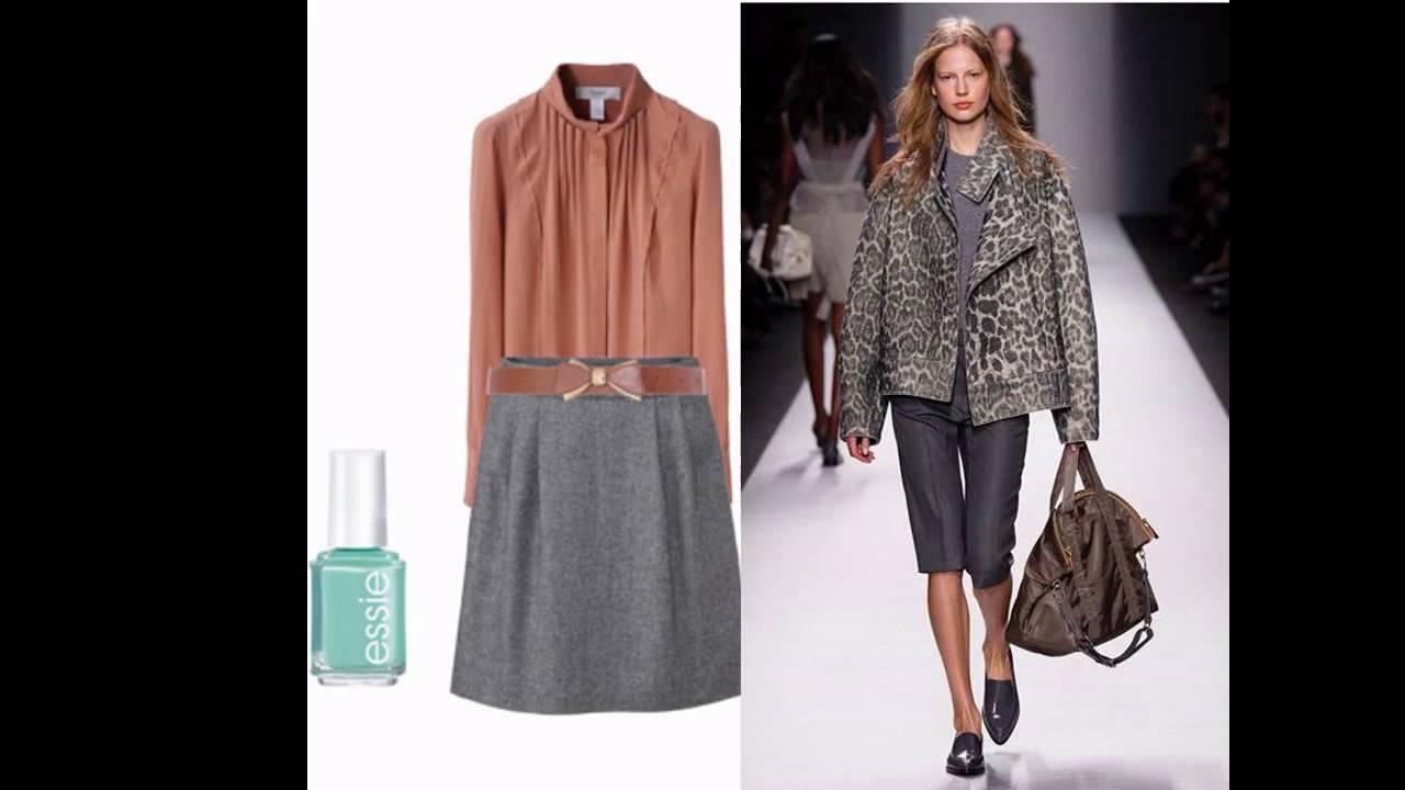 C mo combinar una falda gris youtube - Colores que combinan con gris ...