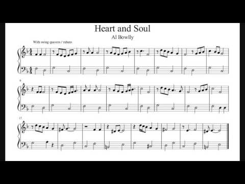 Heart And Soul - Easy Piano Sheet Music (No Audio)