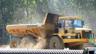 Caterpillar D300D articulated dump truck at work