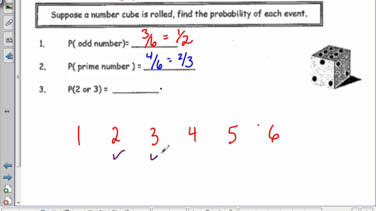 Math 8 Probability Theoretical and Experimental YouTube – Experimental Probability Worksheets