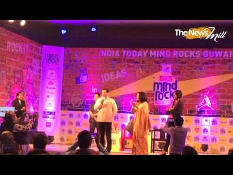 Assam chief minister Sarbananda Sonowal at the India Today Mind Rocks in Guwahati on April 29