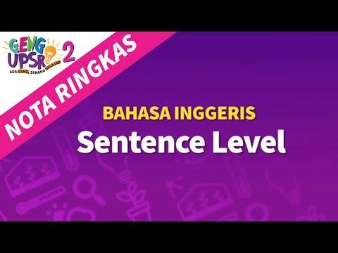 Geng UPSR 2: Episod 10 BI Sentence Level [Nota Ringkas]