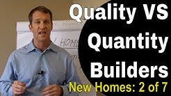 Quality vs Quantity Builders - New Construction Tampa Homes For Sale