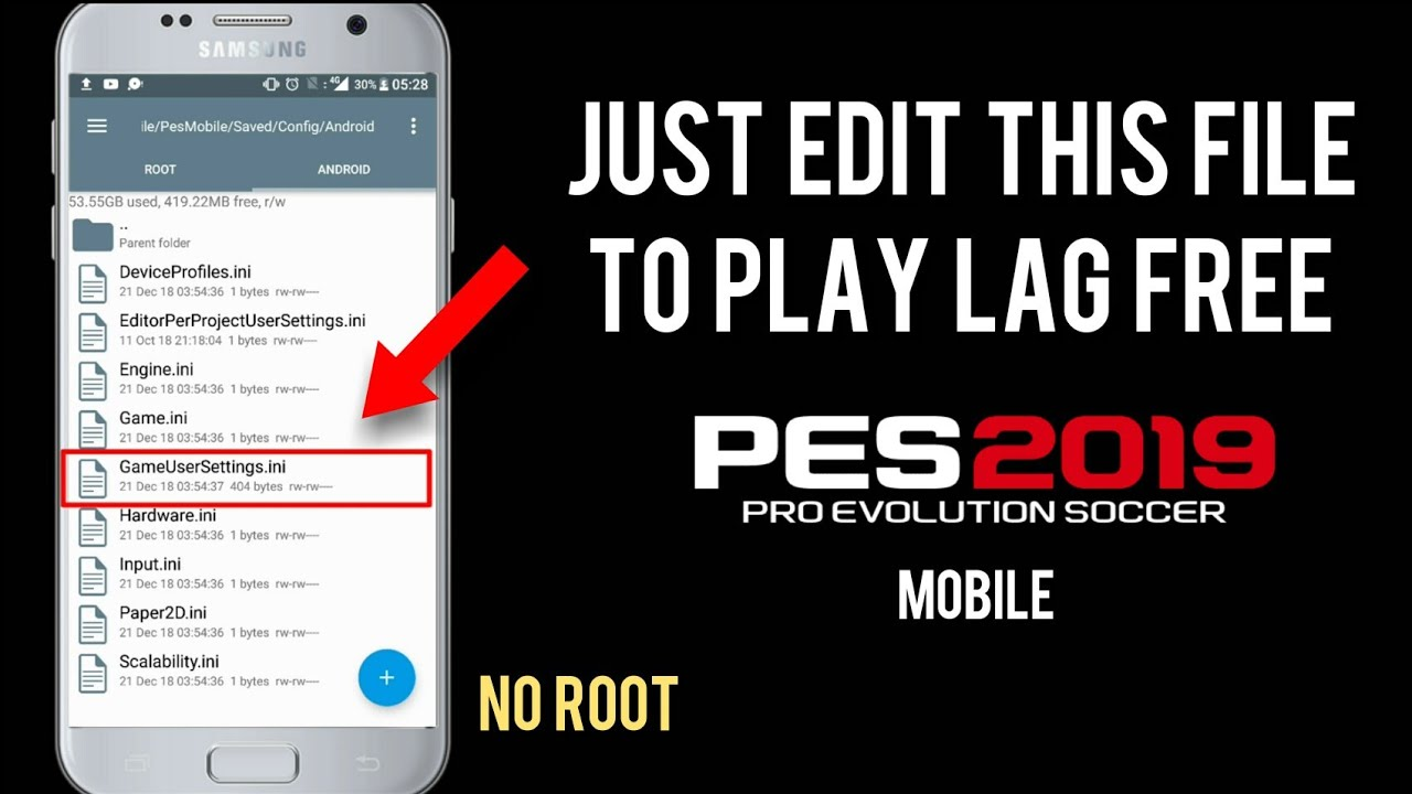 Fix Lag & Graphics by editing game file | PES 19 Mobile