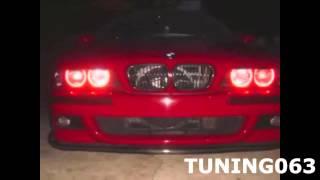 BMW E36 вставки ангельские глазки в штатные фары, неон, красные(, 2014-11-17T10:44:31.000Z)