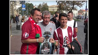 Day 3 of Portugal football team visit in Lithuania
