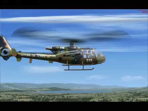 FSX GAZELLE ALAT A PAYERNE - Pilotage et Vidéo de BOUBA-57