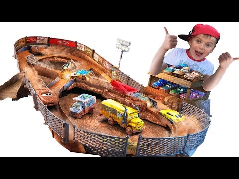 Cars For Kids Racing Track CARS 3 Unboxing And Assembling Toys