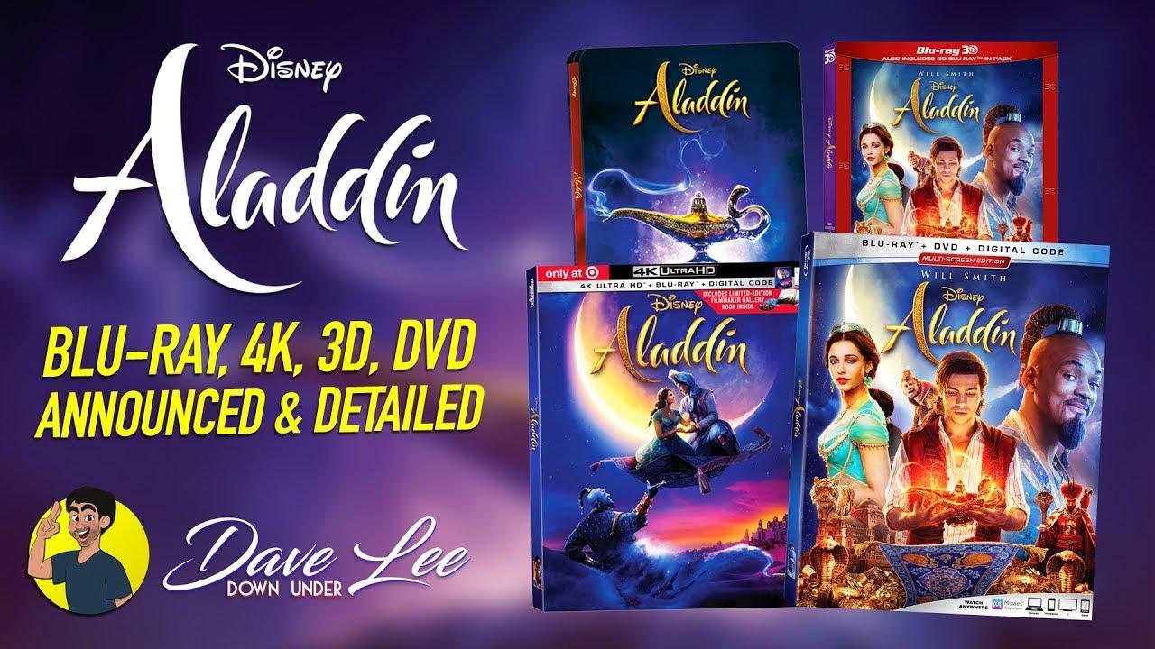 Aladdin 2019 Blu Ray 4k 3d Dvd Announced Detailed