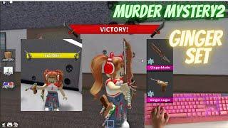 GINGER SET GAMEPLAY HANDCAM CLICKY II  Murder Mystery 2 #asrmroblox #murdermystery2