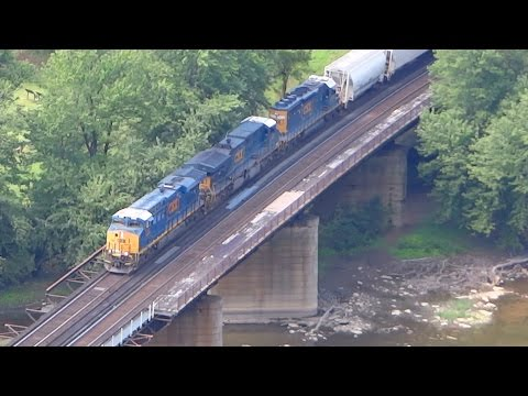 Thumbnail: CSX Freight Train Passing Harper's Ferry