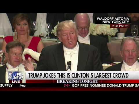 Hillary Clinton - Donald Trump unfunny at The Alfred E Smith Dinner