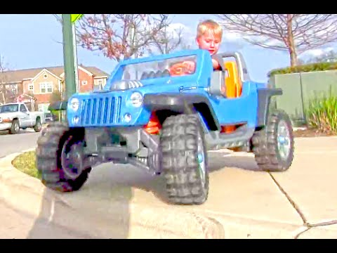 Kids Power Wheels Jeep Hurricane - Review And Riding
