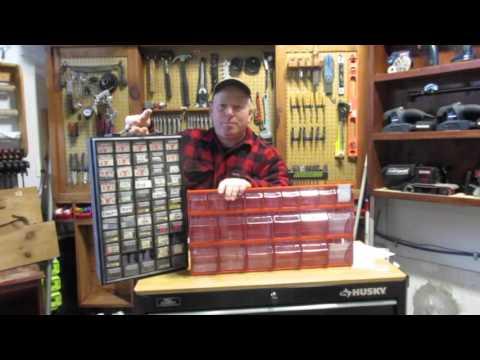Kubota Tilt-Out Storage Bin Cabinet REVIEW - Parts/hardware storage bins