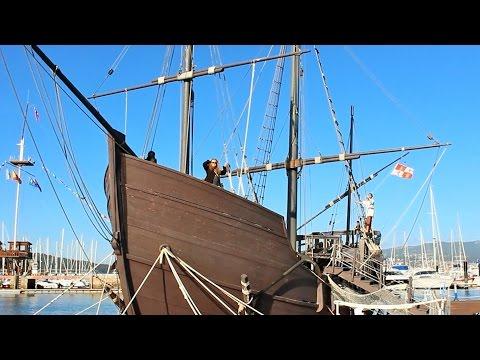 Одна из каравелл Христофора Колумба, Пинта - La Pinta, Baiona.