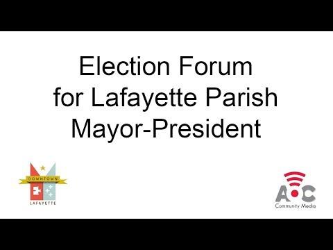 Downtown Lafayette Mayor-President Forum