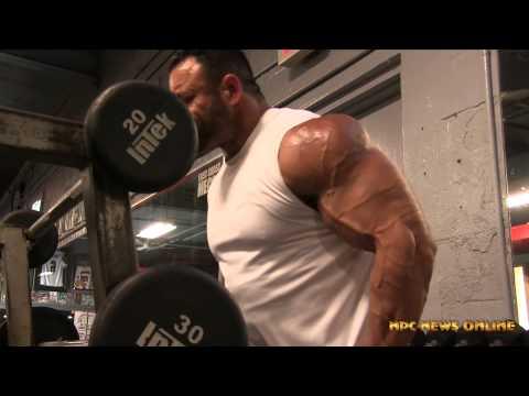 Sean Harris NPC Men's Bodybuilding Competitor : Arm Workout Video