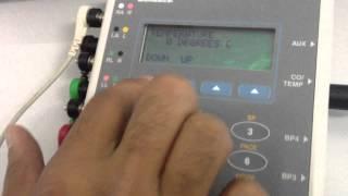 فيديو توضيحي لكيفية فحص كفاءة متحسس الحرارة في جهاز شاشة المريض