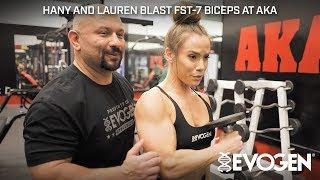 Hany & Lauren Blast FST-7 Biceps at AKA Gym