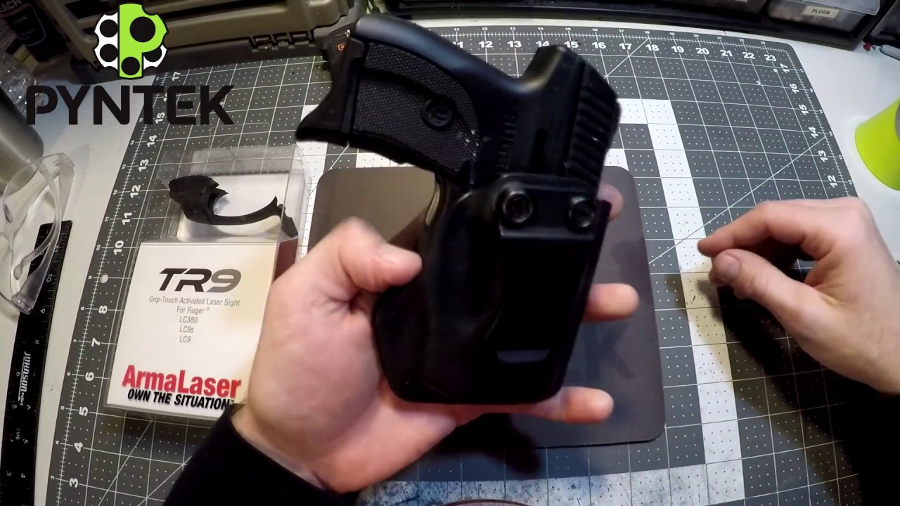 Ruger LC9 with Armalaser TR9 holster by Pyntek