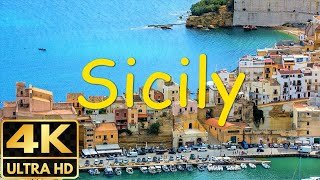 The Best of Sicily in 8 minutes   Sicily in 4K cities, beaches, volcanoes, lava,...