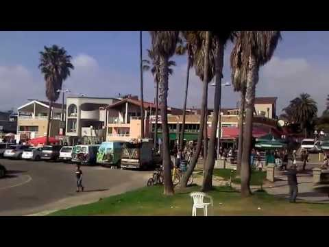 Venice Beach Surf School Surfing Boardwalk and parking landmarks