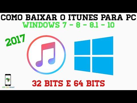 Como baixar e instalar iTunes no PC Windows 7/8/8.1/10 (32 Bits e 64 Bits)