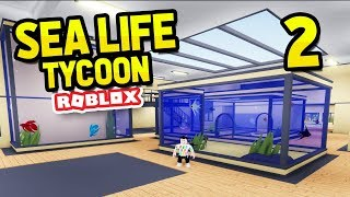 EXPANDING MY AQUARIUM - ROBLOX SEA LIFE TYCOON #2