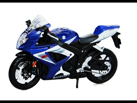 maisto 1/12 suzuki gsx-r750 sport moto pour les enfants - youtube