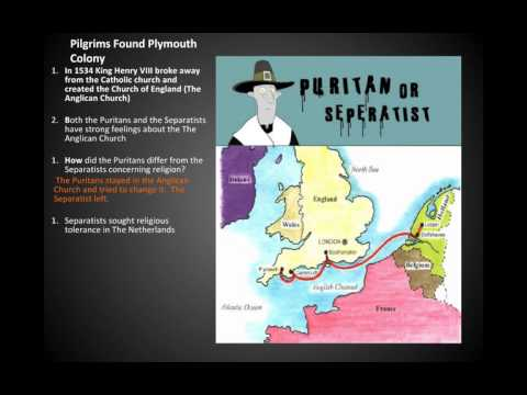 Pilgrims Found Plymouth Colony