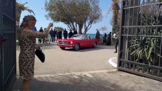 Wedding in Ford Mustang