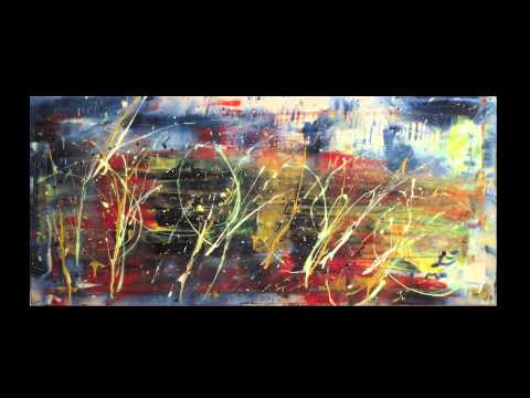 Abstract Paintings – Dancing Light – Phosphorescent Painting Exhibition