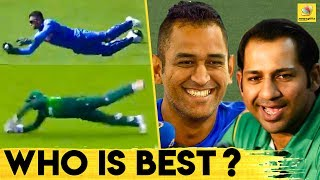 MS Dhoni or Sarfaraz Ahmed - ICC asks whose catch was better   Latest Cricket News in Tamil