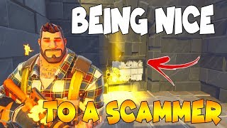 """Nice"" Scammer Nearly Scams 10 LEGENDARY GUNS!! (Scammer Gets Scammed) Fortnite Save The World"