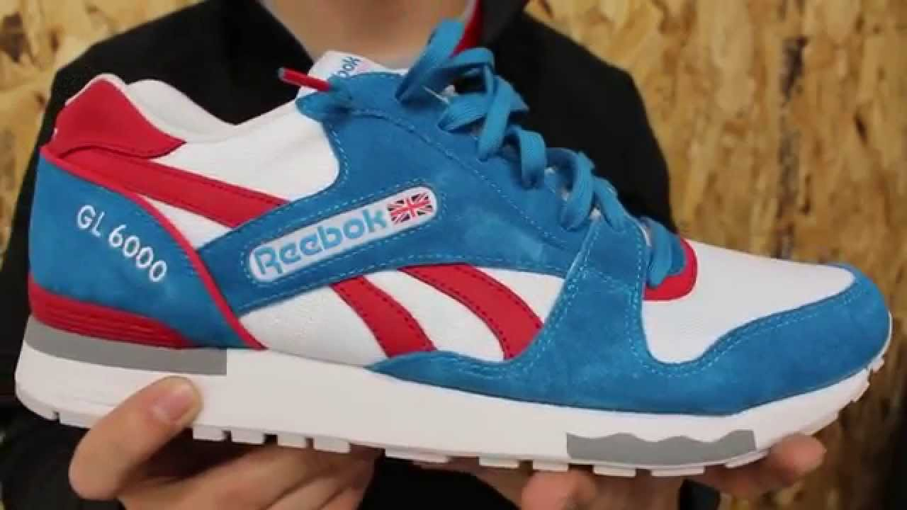 93bf7dc6d29 Reebok GL 6000 Blue Red White Grey - YouTube