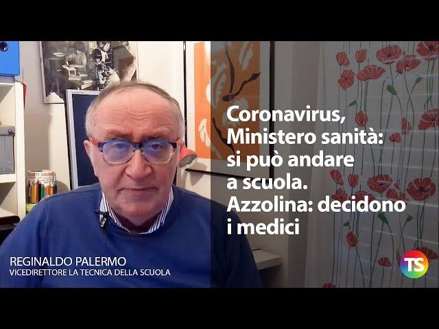 Coronavirus, Ministero sanità: si può andare a scuola. Azzolina: decidono i medici