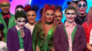 Britain's Got More Talent 2018 Fantasy Squad DC Villain Dance Troupe Audition S12E04