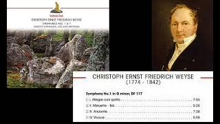 Christoph Ernst Friedrich Weyse: Symphony No.1, in G Minor, DF.117, revised version