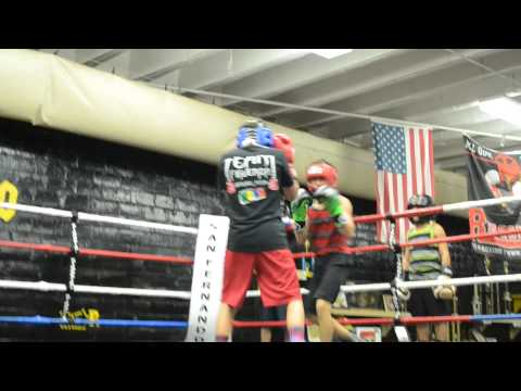 Bam Rodriguez sparring with Isaiah Romero at The San Fernando Gym