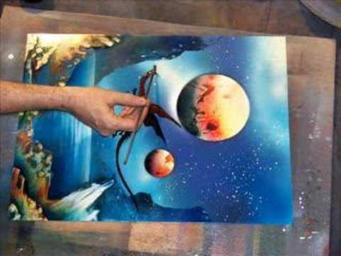 Cuadros pintura spary 3 4 youtube - Pintura con spray ...