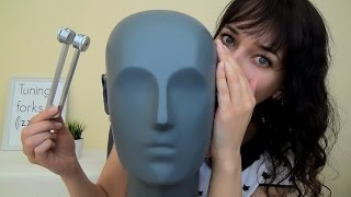 Binaural ASMR Tuning Forks Near Your Ears & Polish Whispering & High and Low Pitch