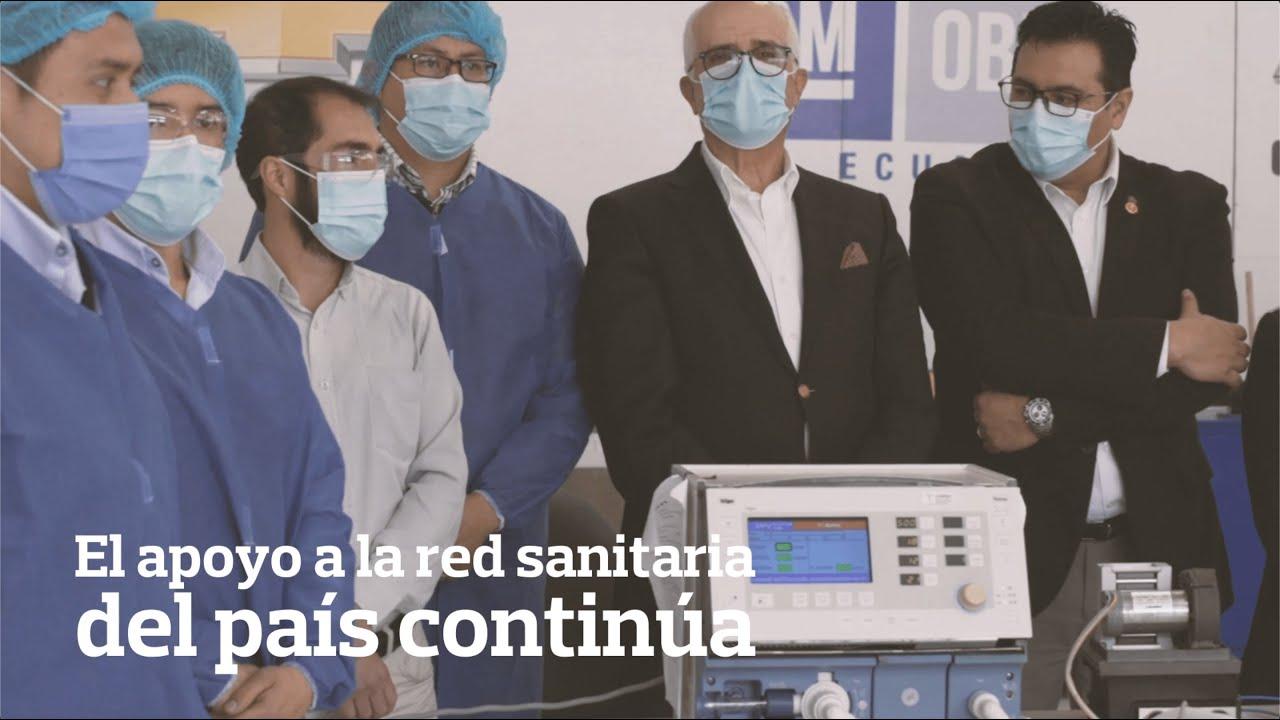 #SumarJuntos: más respiradores para la red sanitaria de Ecuador