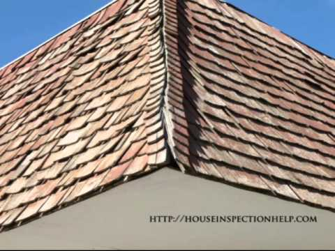 Damaged Wood Roof Hip Shingles House Inspection